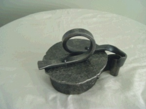 Forged and formed box with scrolled lid